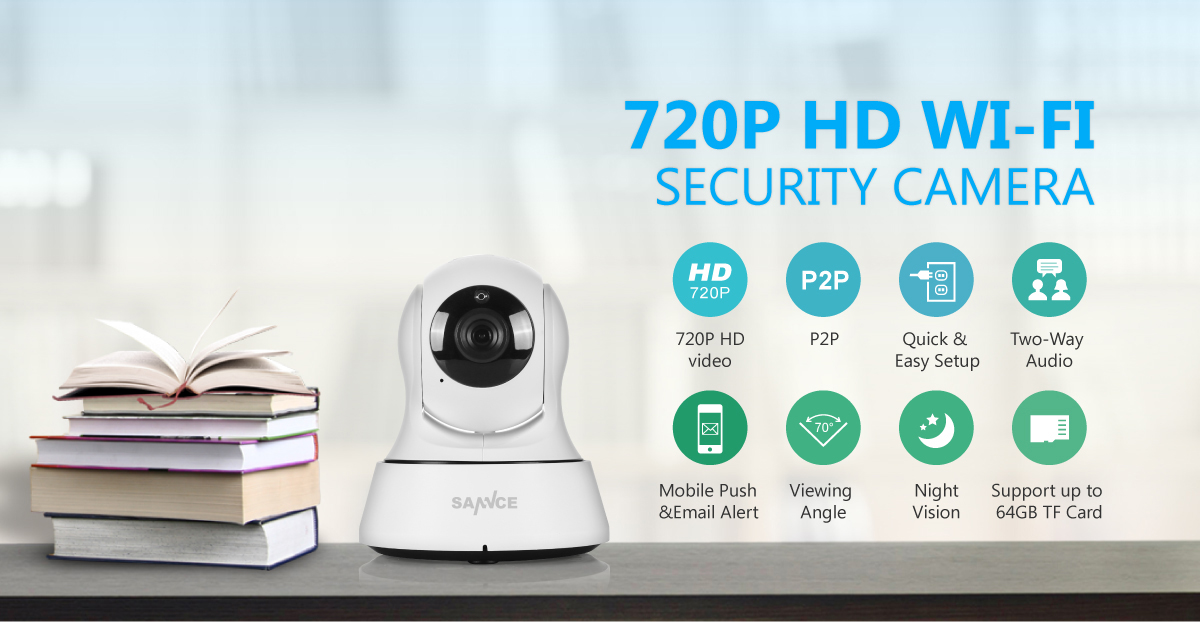 Sannce Wireless 720p Network Security Ip Camera App Remote