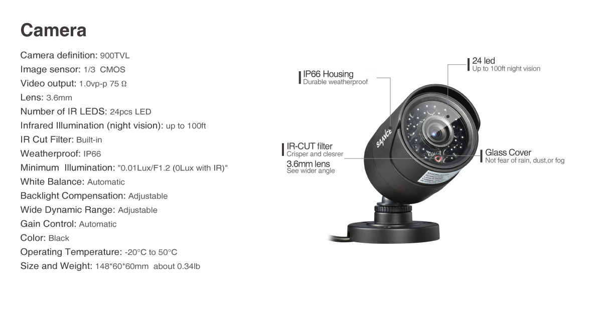 8 channel security system 1080p