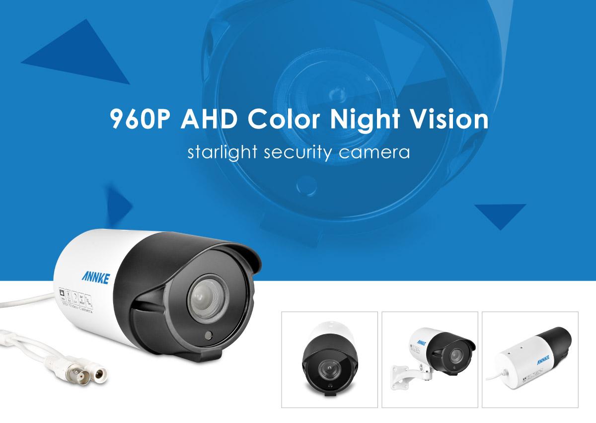 Annke Hd 960p Colored Night Vision Starlight Outdoor Cctv