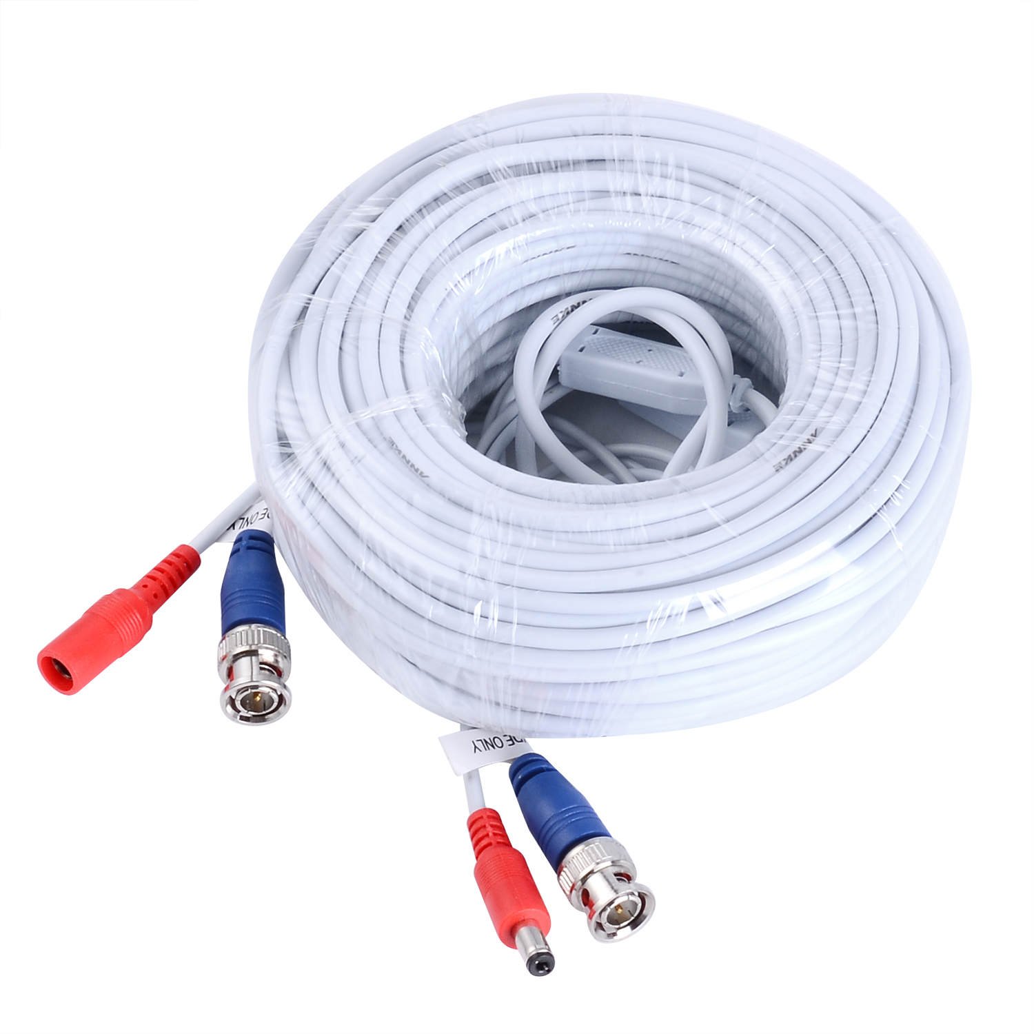 Camera Cable With Power : Annke ft white m bnc video power cable extension for